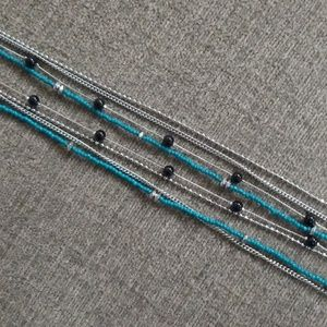 Lia Sophia Blue multichain necklace